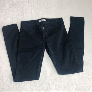 Hollister dark navy blue low rise skinny pants 26